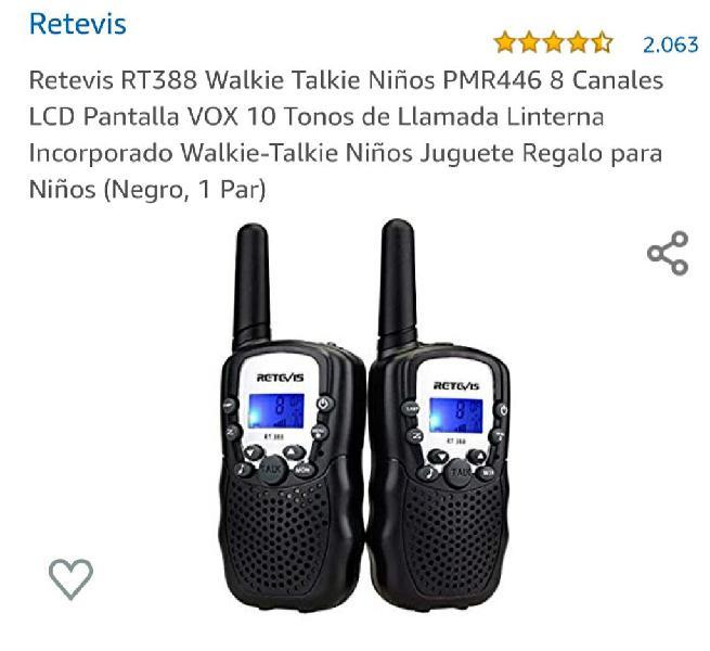 Walkie talkies niños retevis rt388