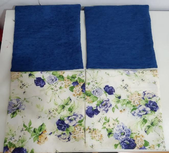 Conjunto fundas cojines azul