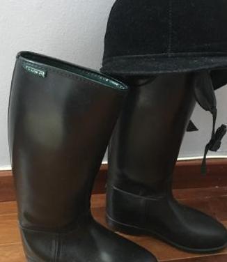 Aigle- botas de montar negras casco