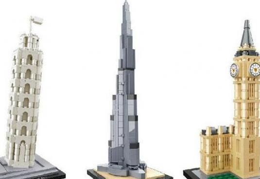 Puzzles en 3d tipo lego pisa burj khalifa big ben