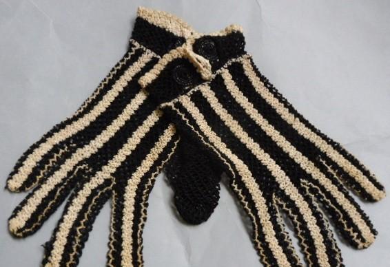 Antiguos guantes de crochet ppio. s.xx