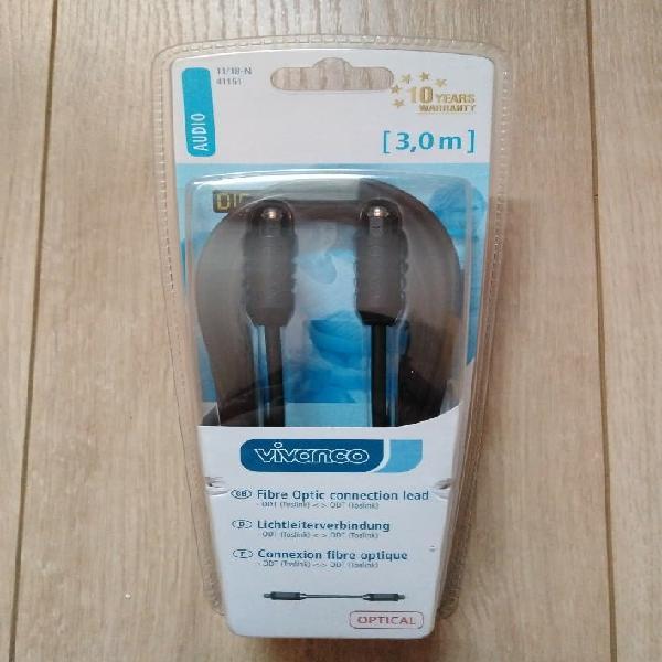 Cable audio de fibra óptica
