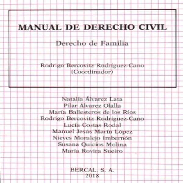Manual derecho familia rodrigo bercovitz