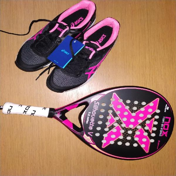 zapatillas padel asics mujer negras xxl