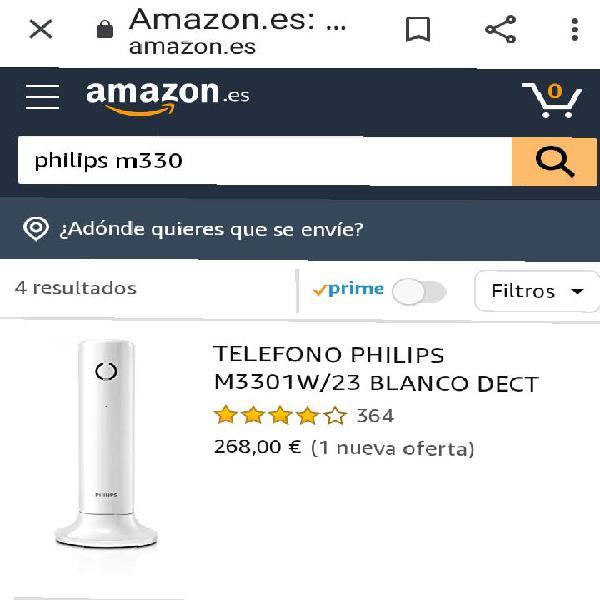 Teléfono inalámbrico philips
