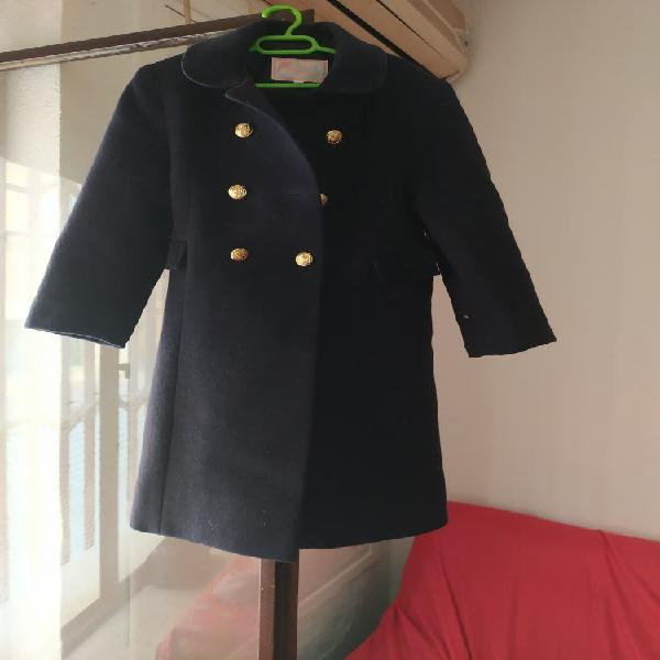 Abrigo azul marino talla 4