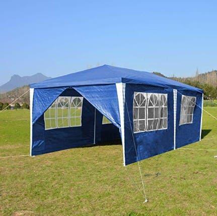 Carpa plegable 6x3m ventanas impermeable aestrenar
