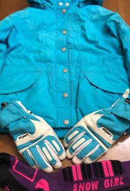 Cazadora, guantes esquí niña