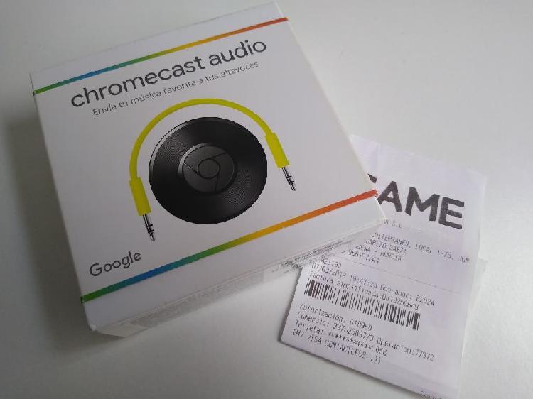 Chromecast audio en garantía