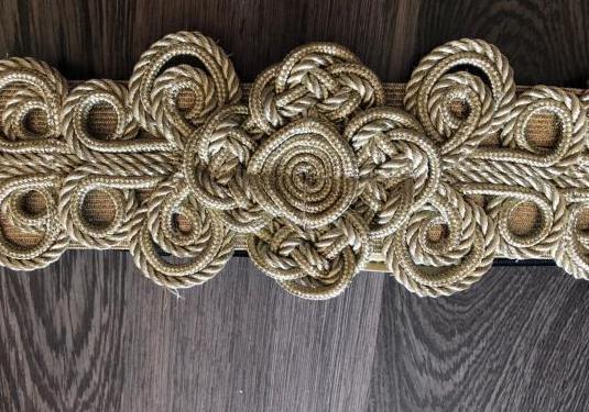Cinturón mujer oro elástico
