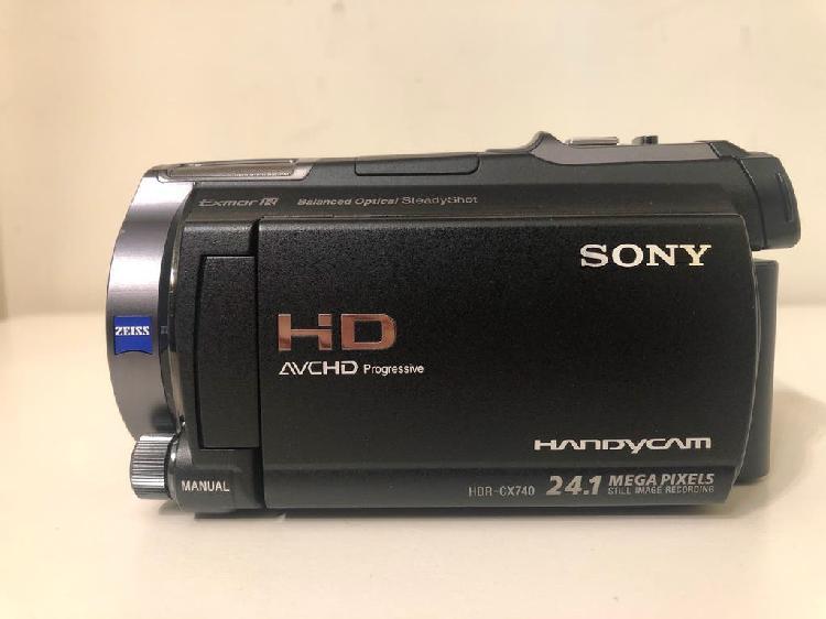 Cámara video sony hdr cx 740