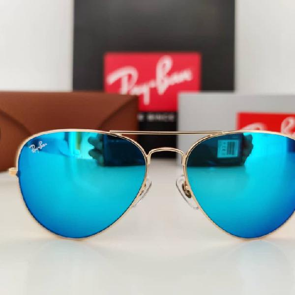 Gafas de sol rayban aviador azul flash