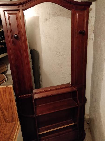 Hall mueble entrada con espejo