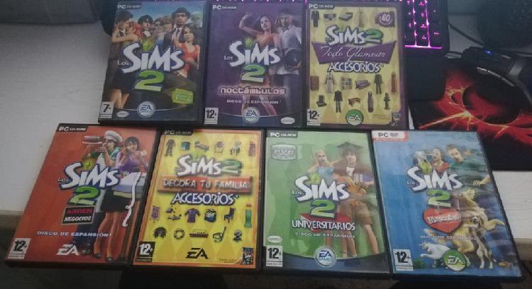 Juego pc los sims 2 la saga completa 7 juegos
