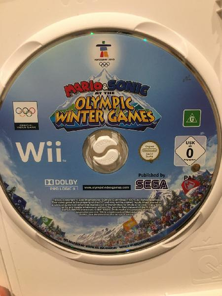 Juego wii mario y sonic en los juegos olímpicos