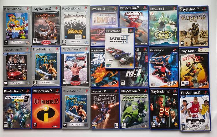 Lote 22 juegos originales ps2