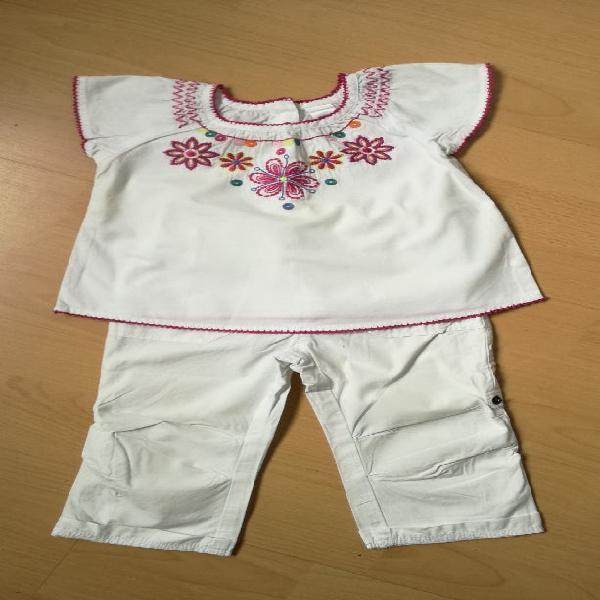 Lote conjunto niña 24 meses camisa y pantalón c&a