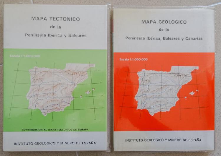 Mapa tectónico de la península ibérica y baleares