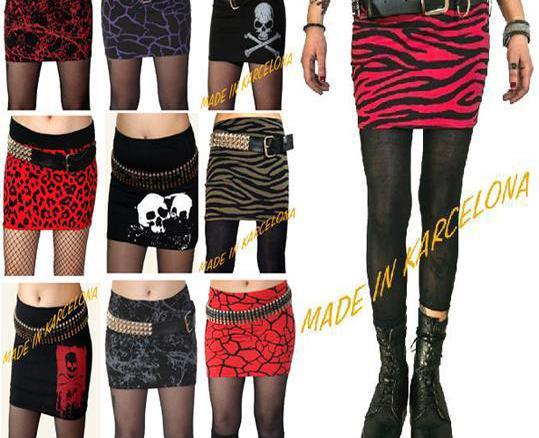 Minifalda punk - muchos modelos! contra reembolso