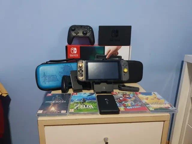 Nintendo switch y accesorios + juegos