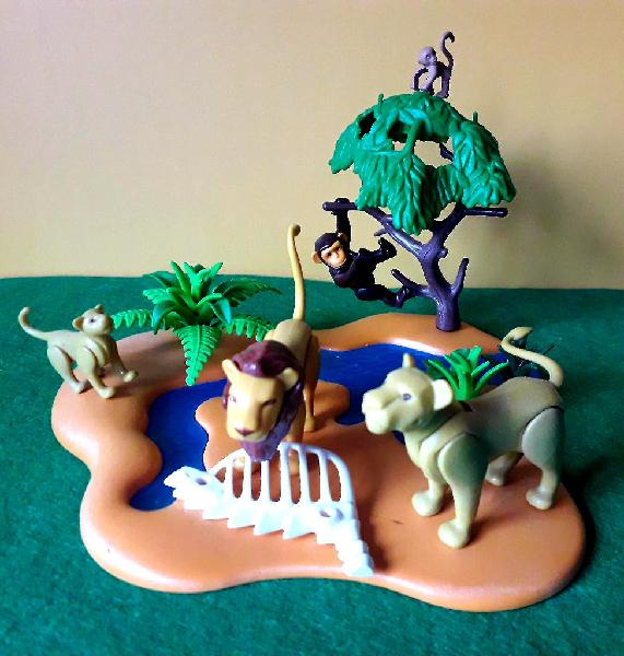 Playmobil rio con leones y monos
