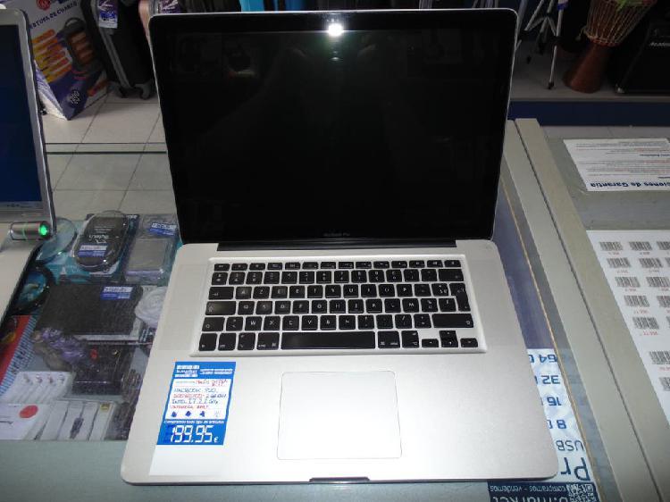 Portatil apple macbook pro