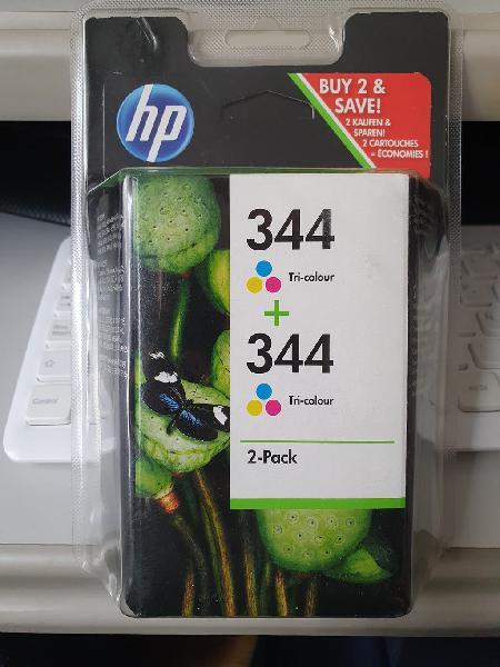 Pack de dos cartuchos de tinta hp 344