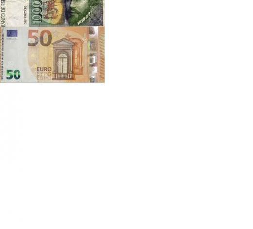 Pesetas por euros