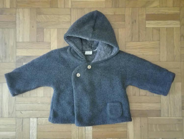 Precioso abrigo gris bebé niña, zara, 3-6 meses