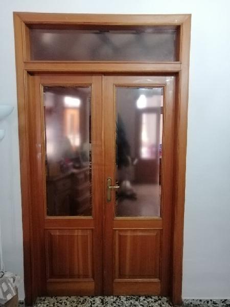 Puerta madera doble hoja interior