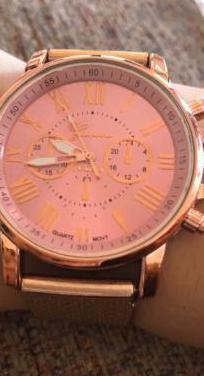 Reloj mujer acero inoxidable rosa nuevo