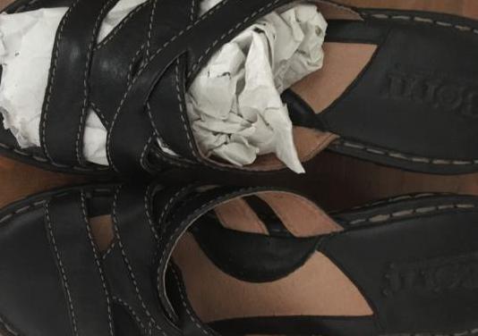 Sandalias cuña piel como nuevas t.39