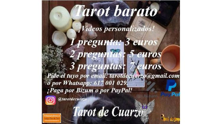 Tarot barato. vídeos personalizados