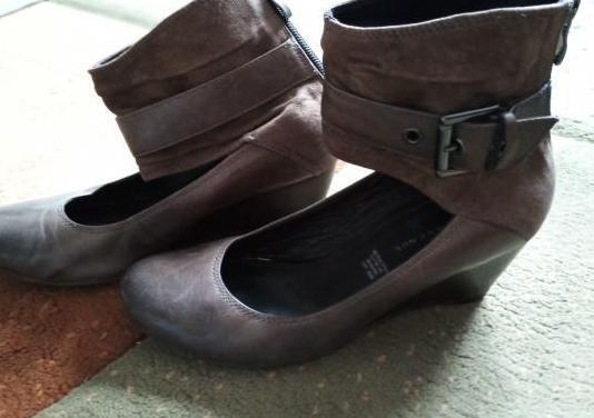 Zapatos piel verde oliva / marrón