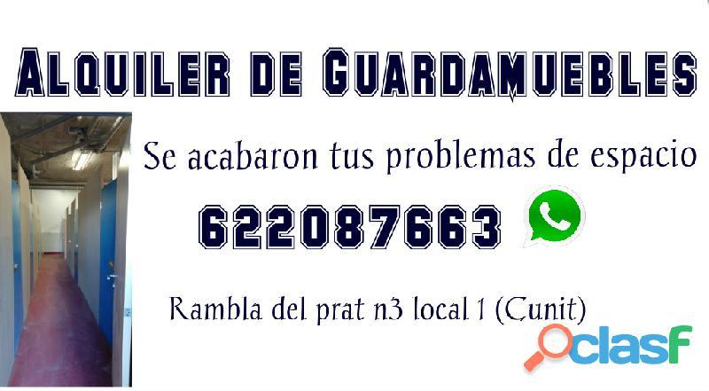 Alquiler de guardamuebles y transportes tel. 622087663