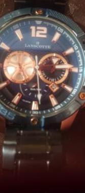 Reloj lanscotte con oro rosa de 1ª ley