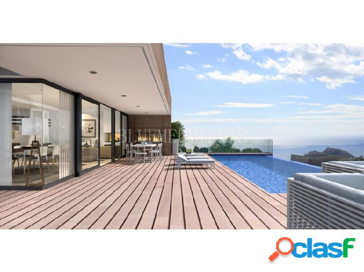 Proyecto de villa de lujo con vistas al mar en venta en la cumbre del sol, benitachell