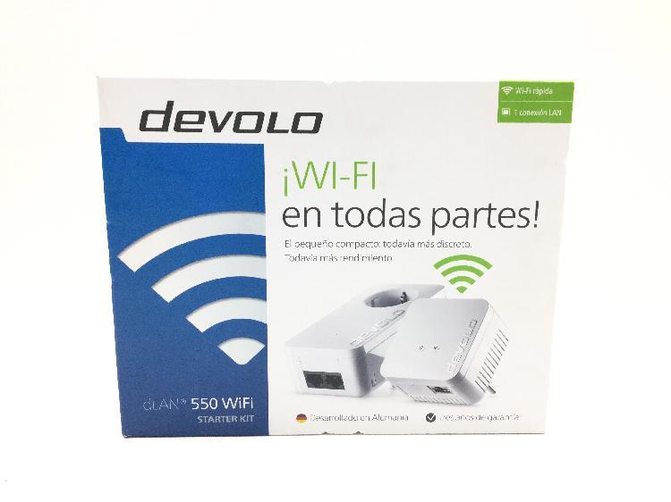 19 % adaptador wireless devolo dlan 550 wifi starter kit