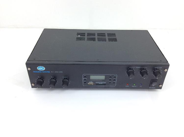 34 % amplificador hifi acoustic control ac-300/usb