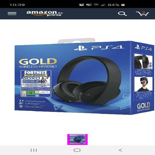 Auriculares sony - gold edición headset