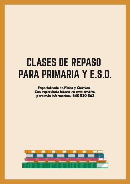 Clases de repaso primaria y e.s.o.
