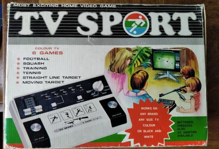 Consola tv sport - en caja funcionando - tipo pong -