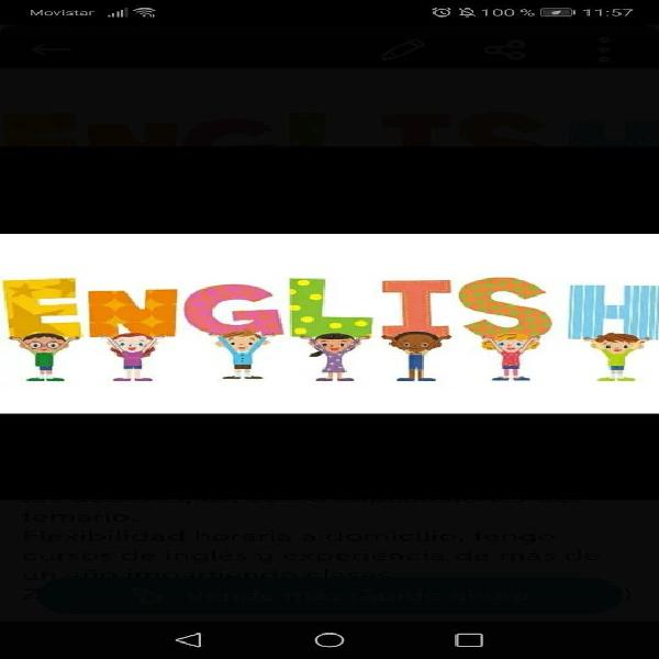 Clases particulares de inglés y refuerzo