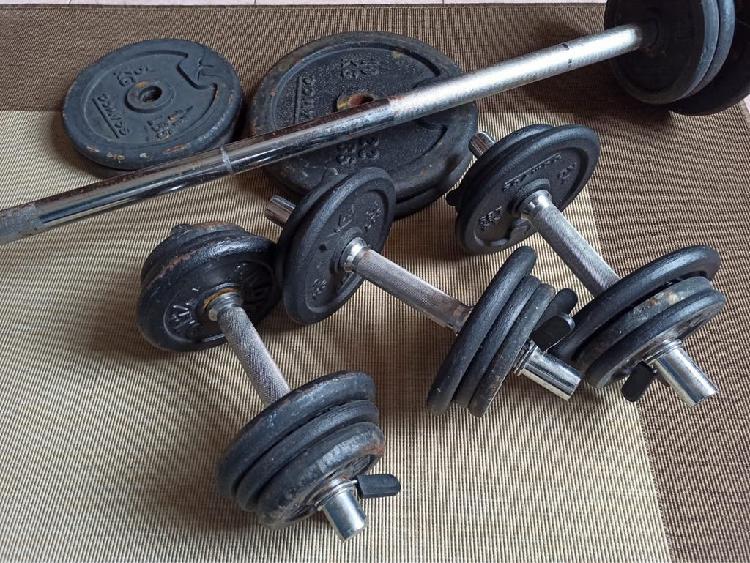 Conjunto mancuernas fitness