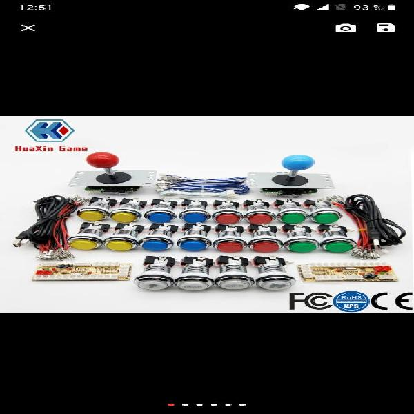 Controles arcade recreativa