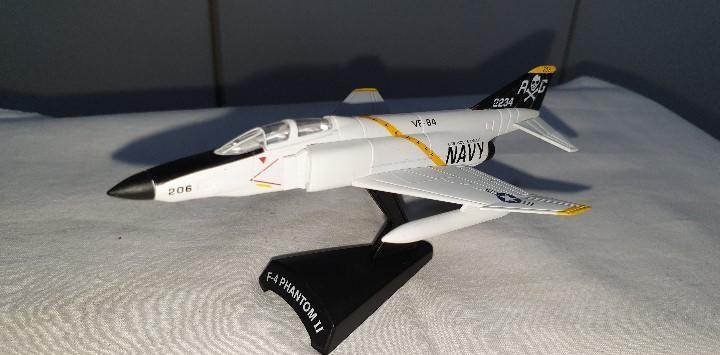 Ediciones del prado f-4 phantom ii navy avión metal escala
