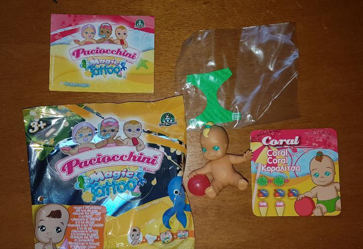 Figura pvc goma bebé sobres sorpresa paciocchini giochi