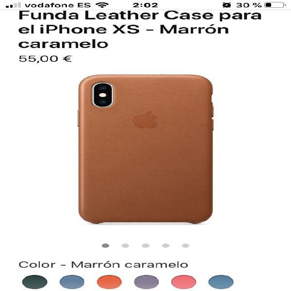Funda cuero original marrón iphone xs