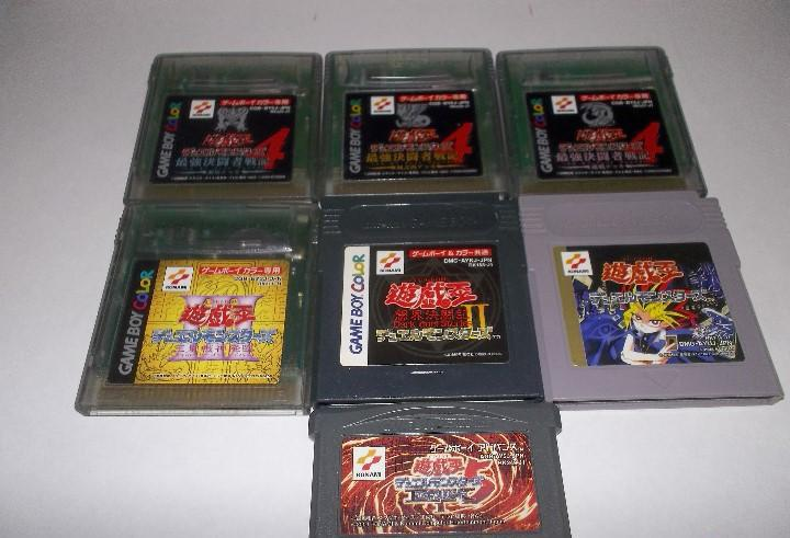 Gameboy lote juegos yu-gi-oh! ii version japonesa 1,2,3,4 (3