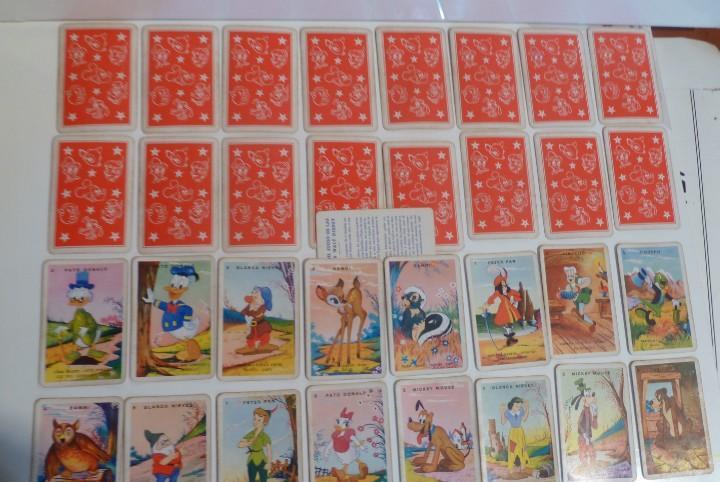 Juego baraja cartas desfile walt disney juego de las